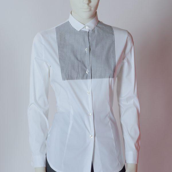 Camicia donna slim con paramontura